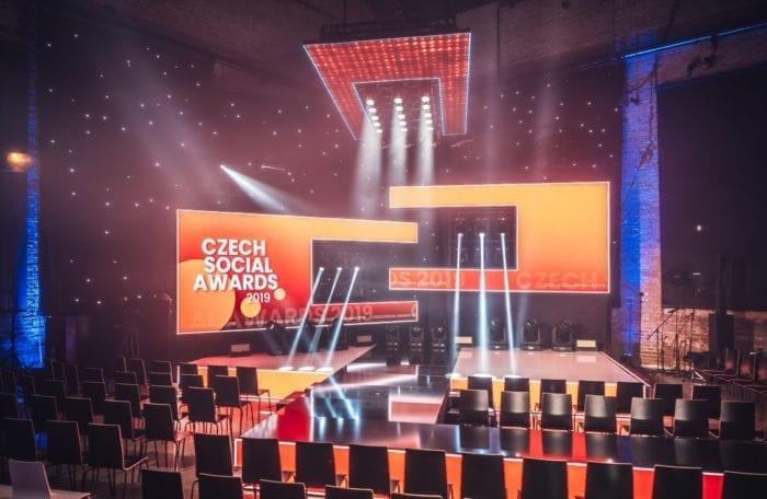 Pohled na sálu Czech Social Awards